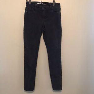 Old Navy Black Super Skinny Ankle Mid Rise Jeans 6
